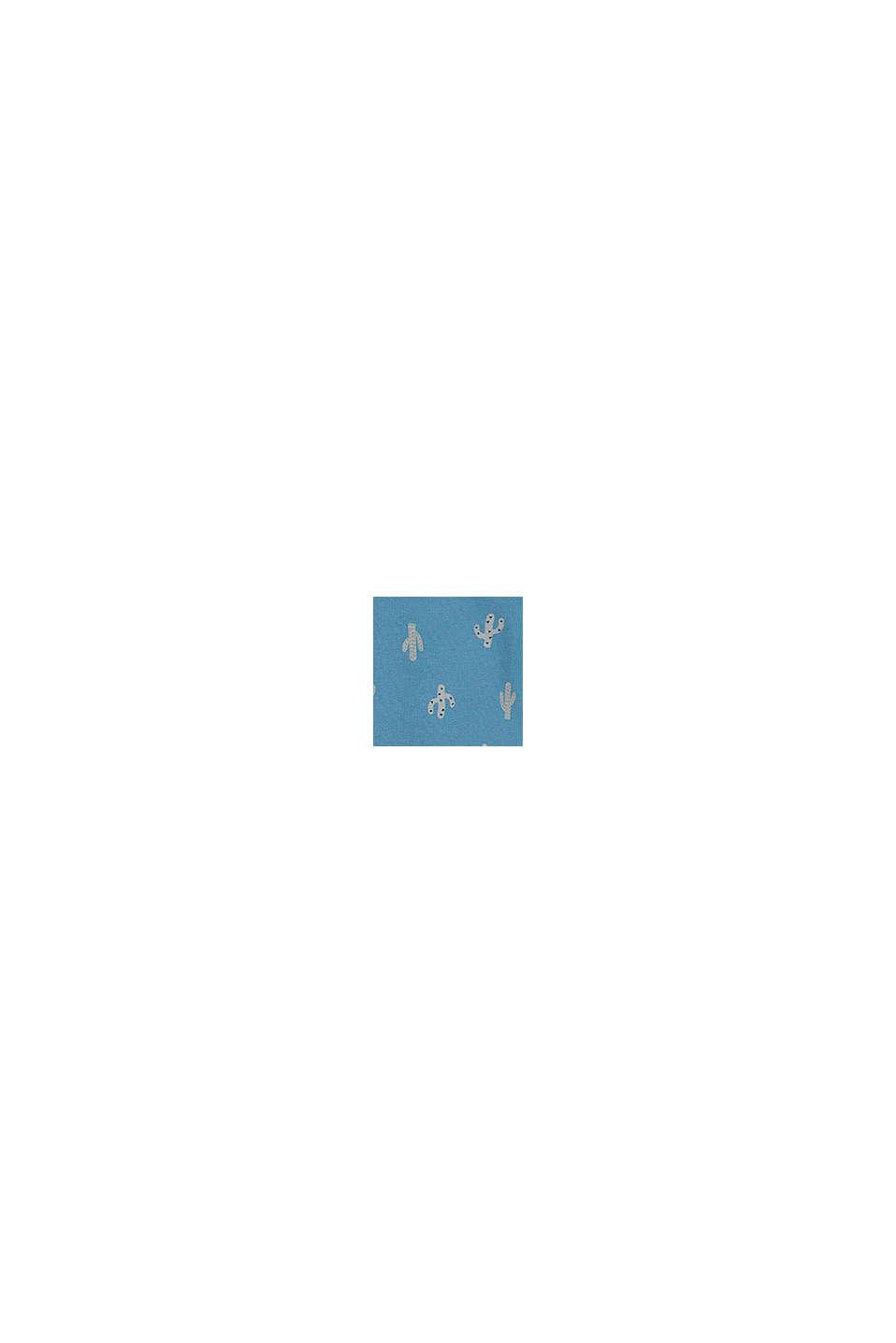 Grenouillère à imprimé cactus, coton biologique, GREY BLUE, swatch