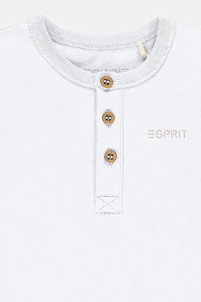 Kruippakje met lange mouwen van biologisch katoen met stretch, WHITE, detail image number 2