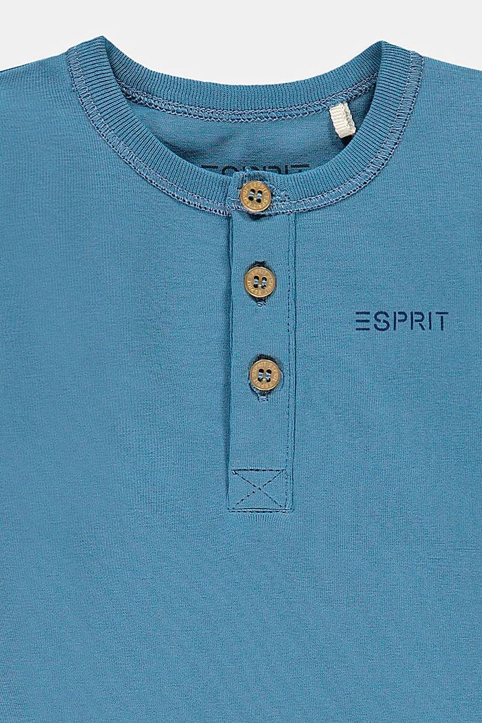 Pitkähihainen haalari luomupuuvillaa/stretchiä, GREY BLUE, detail image number 2