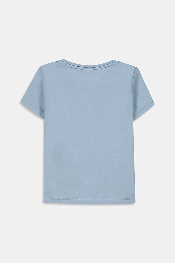Logo T-shirt made of stretch cotton, GREY BLUE, detail image number 1