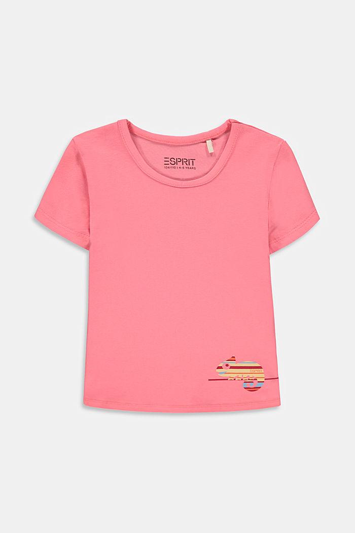 T-shirt z nadrukiem kameleona, PINK, detail image number 0