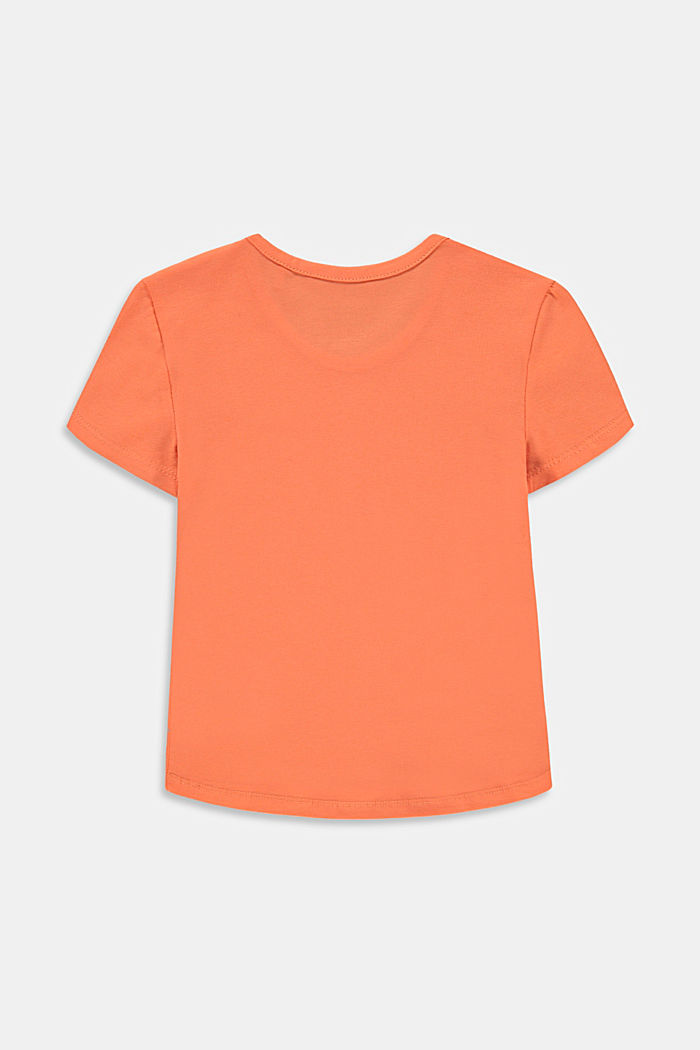 T-shirt with chameleon print, PEACH, detail image number 1