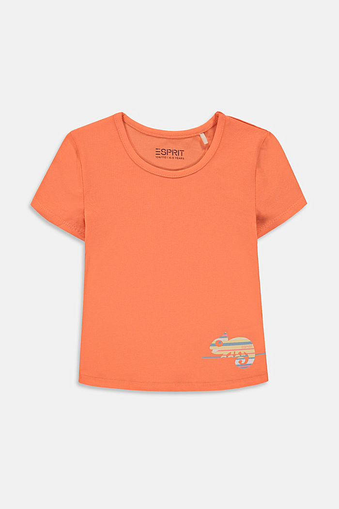 T-shirt with chameleon print, PEACH, detail image number 0