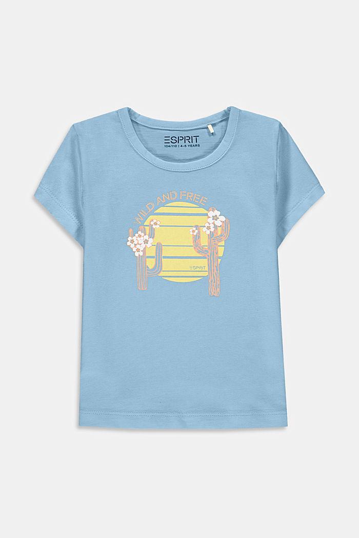 T-shirt con stampa di cactus, 100% cotone
