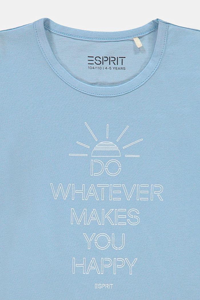 Camiseta con frase estampada, BLUE LAVENDER, detail image number 2