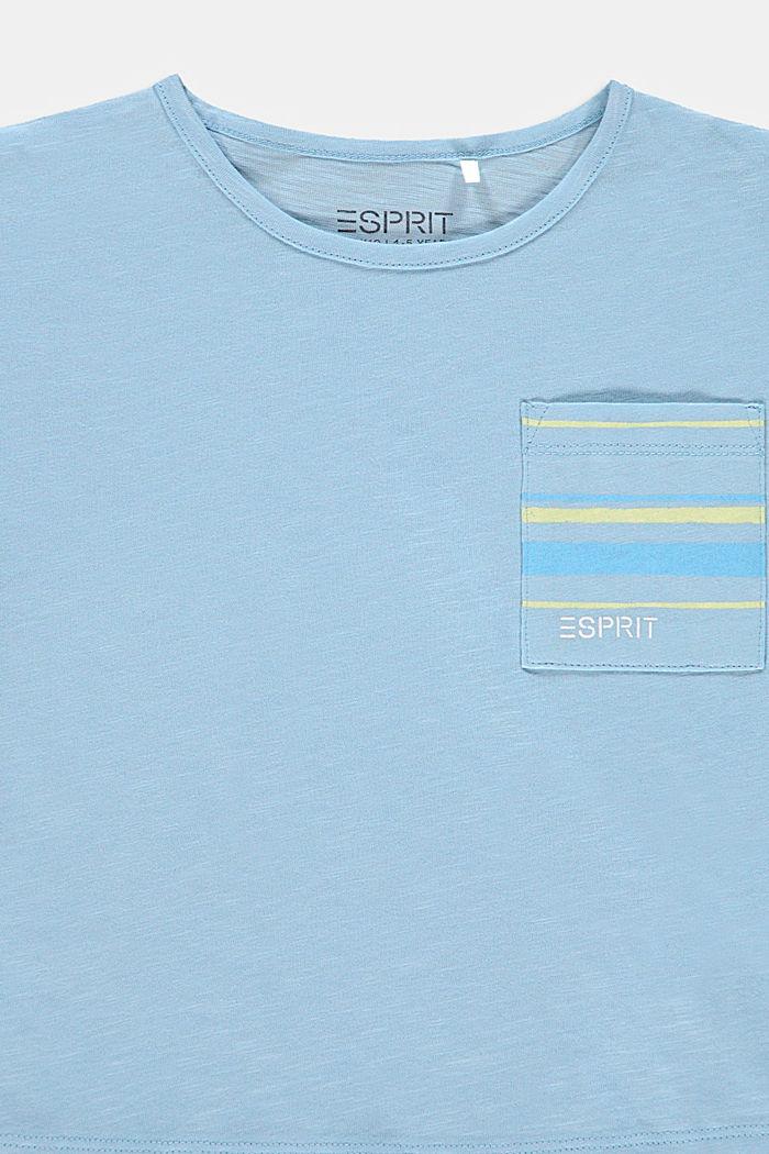 Camiseta con bolsillo en el pecho, 100% algodón, BLUE LAVENDER, detail image number 2