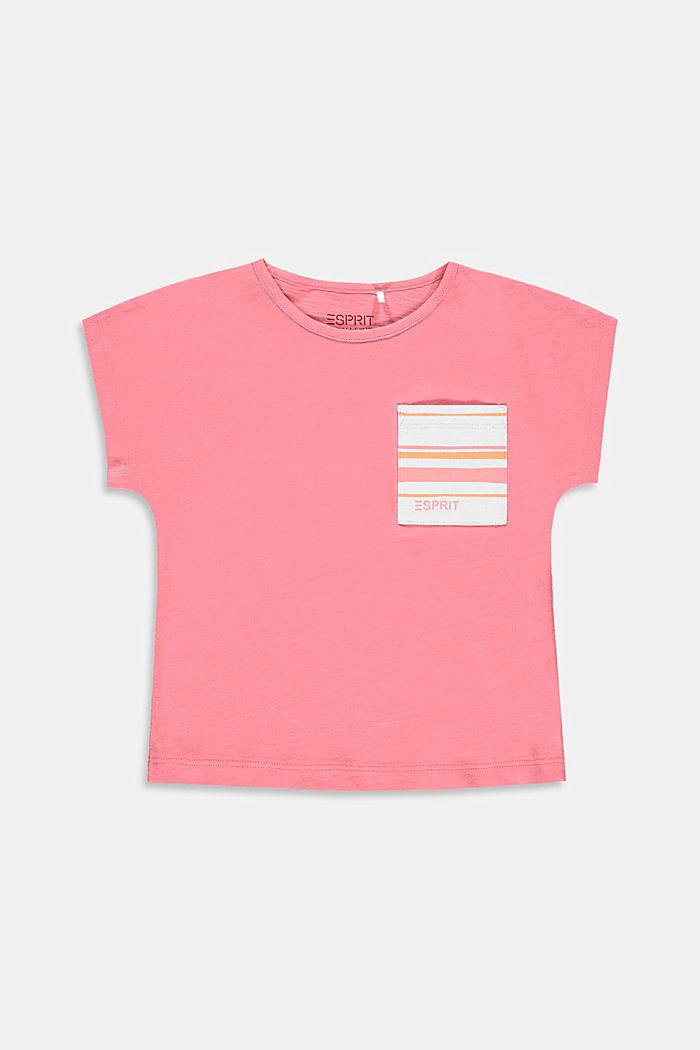 Camiseta con bolsillo en el pecho, 100% algodón, PINK, detail image number 0