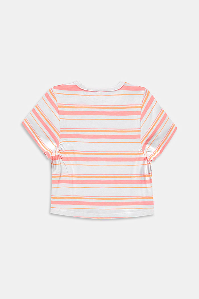 Subtly striped T-shirt, 100% cotton, PEACH, detail image number 1