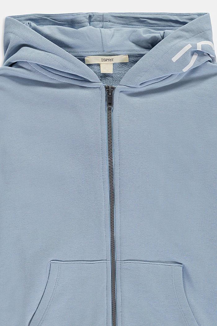 Sweatshirts cardigan, GREY BLUE, detail image number 2