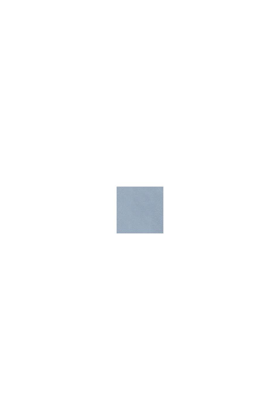 Sweat à capuche et imprimé logo, 100% coton, GREY BLUE, swatch