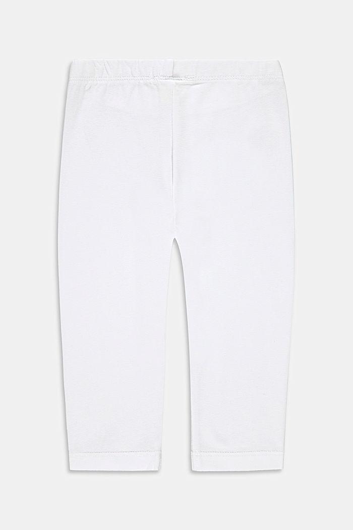 Capri-Leggings aus Baumwoll-Stretch, WHITE, detail image number 1