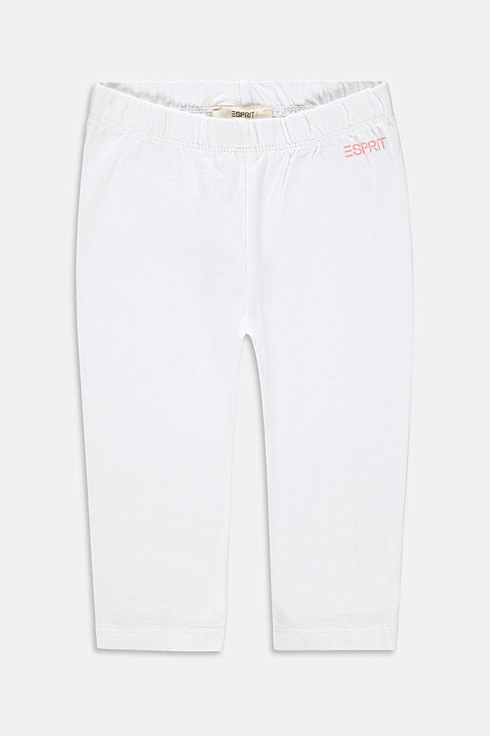 Capri-Leggings aus Baumwoll-Stretch, WHITE, detail image number 0