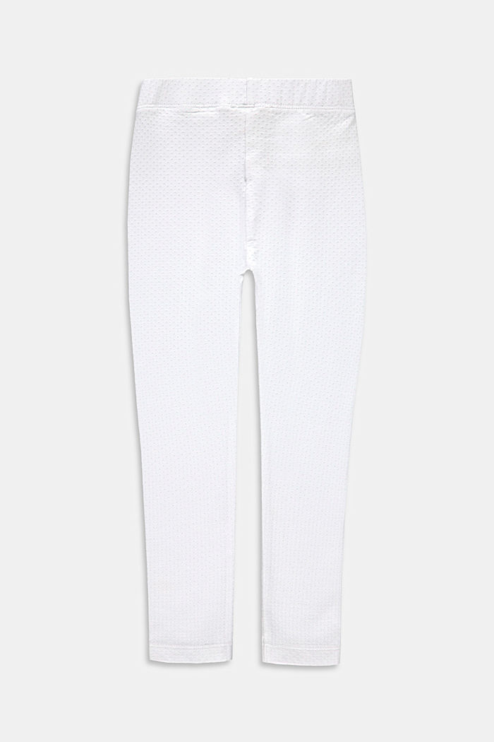 Leggings con motivo strutturato, WHITE, detail image number 1