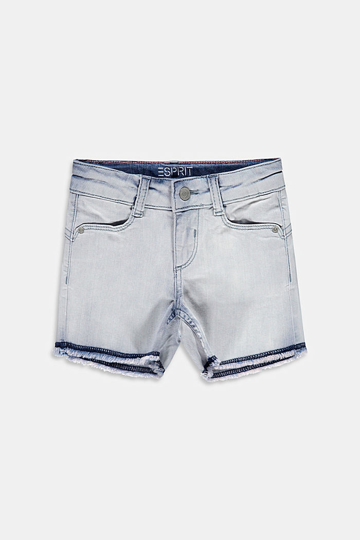 Casual denim shorts with adjustable waistband