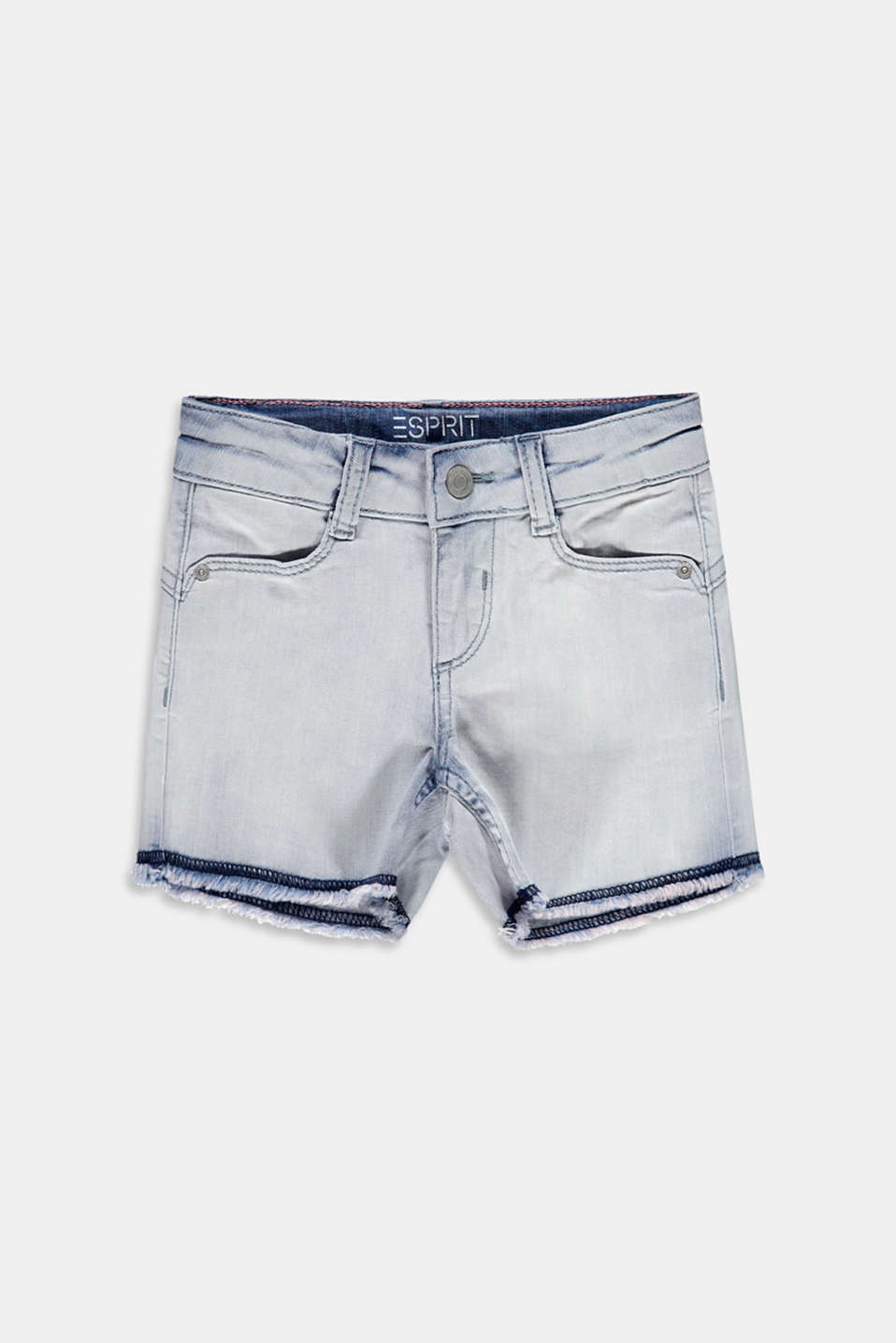 Esprit - Casual denim short met verstelbare band