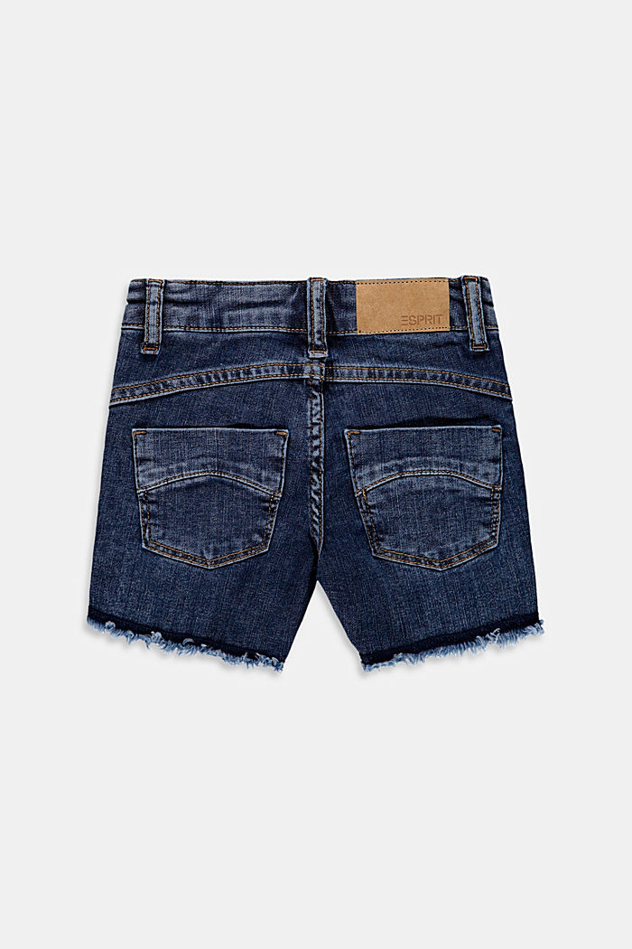 Denim shorts with an adjustable waistband, BLUE MEDIUM WASHED, detail image number 1