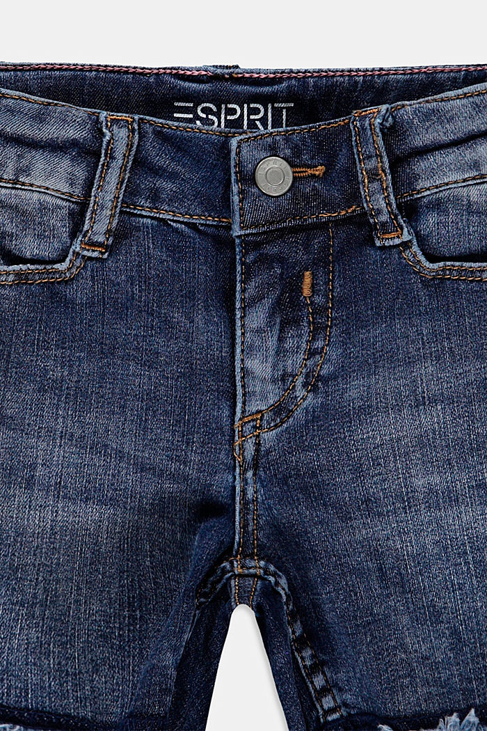 Denim shorts with an adjustable waistband, BLUE MEDIUM WASHED, detail image number 2