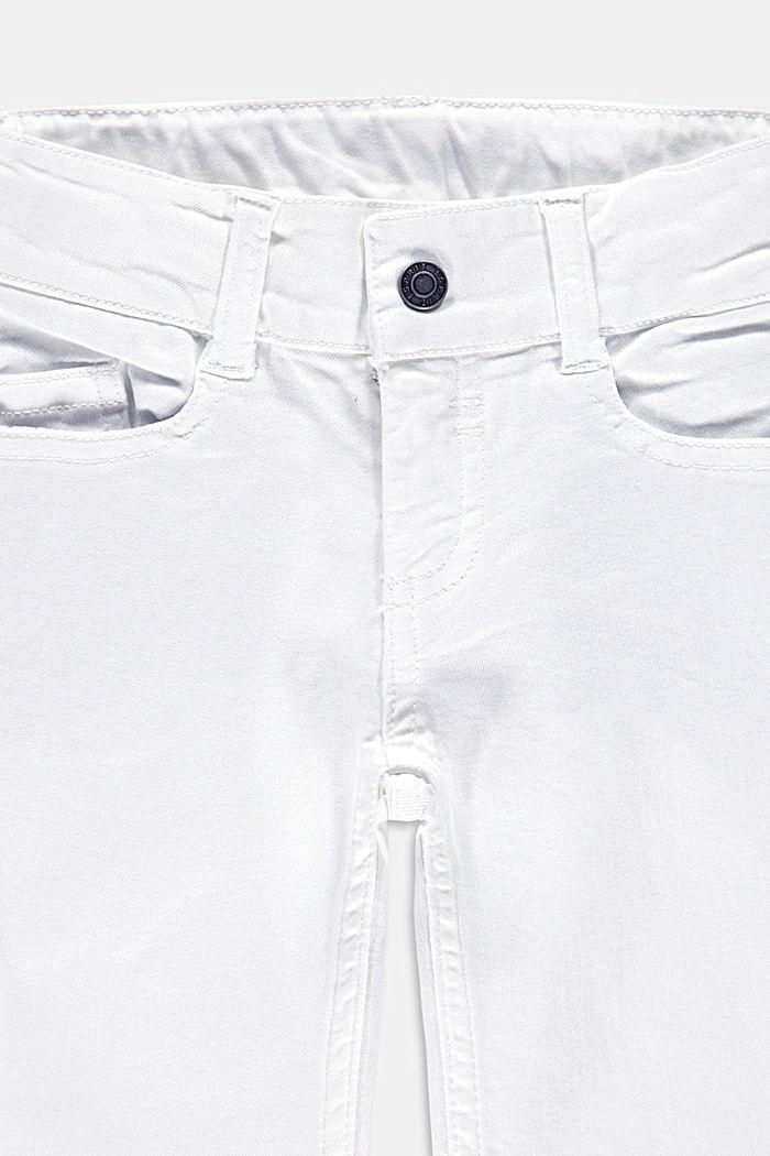 Capripituiset housut säätövyötäröllä, WHITE, detail image number 2
