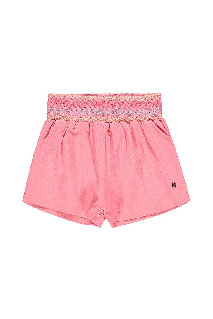 Crêpe-Shorts mit Smok, 100% Baumwolle, PINK, detail image number 3