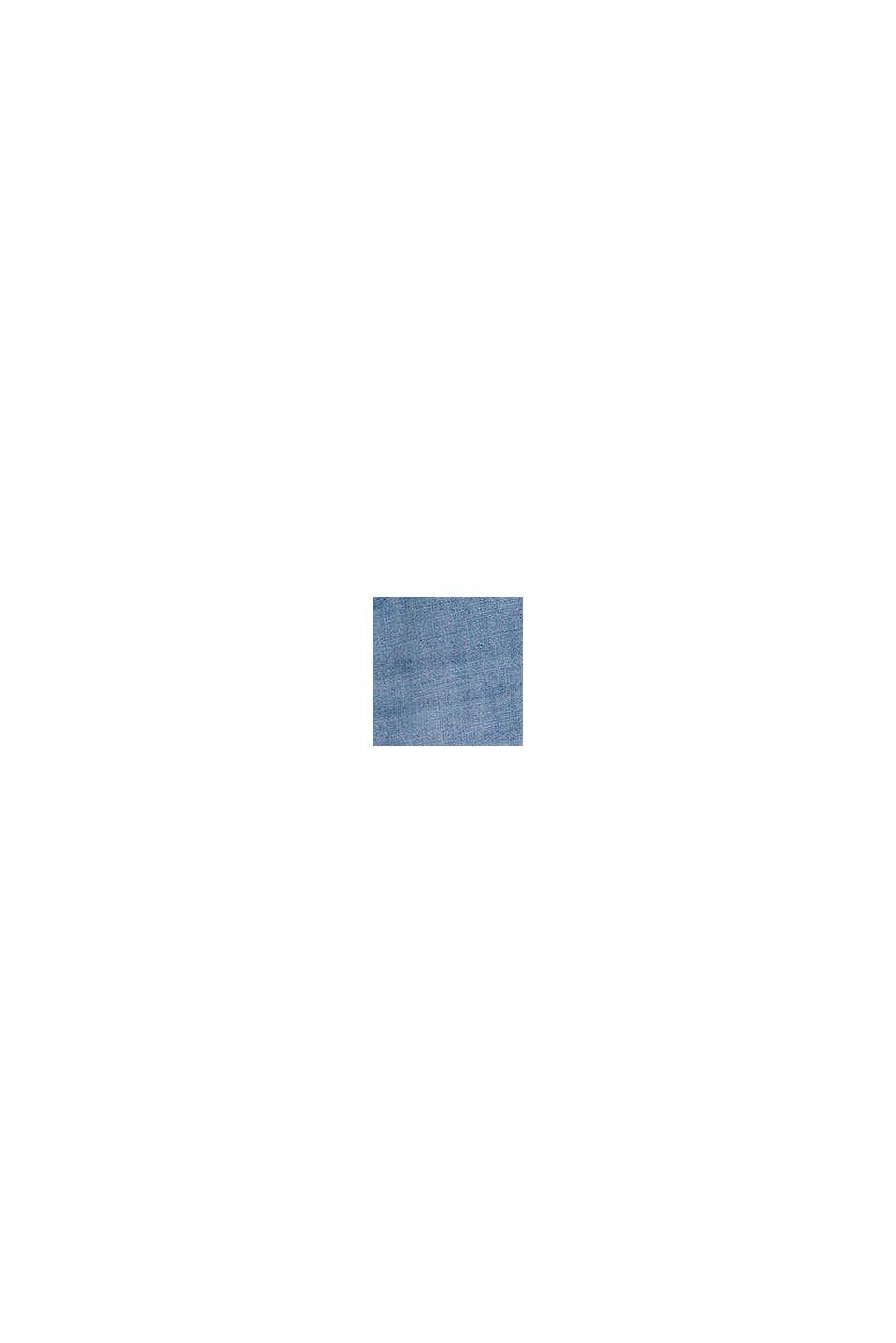 Elastische paperbagjeans van katoen, BLUE LIGHT WASHED, swatch