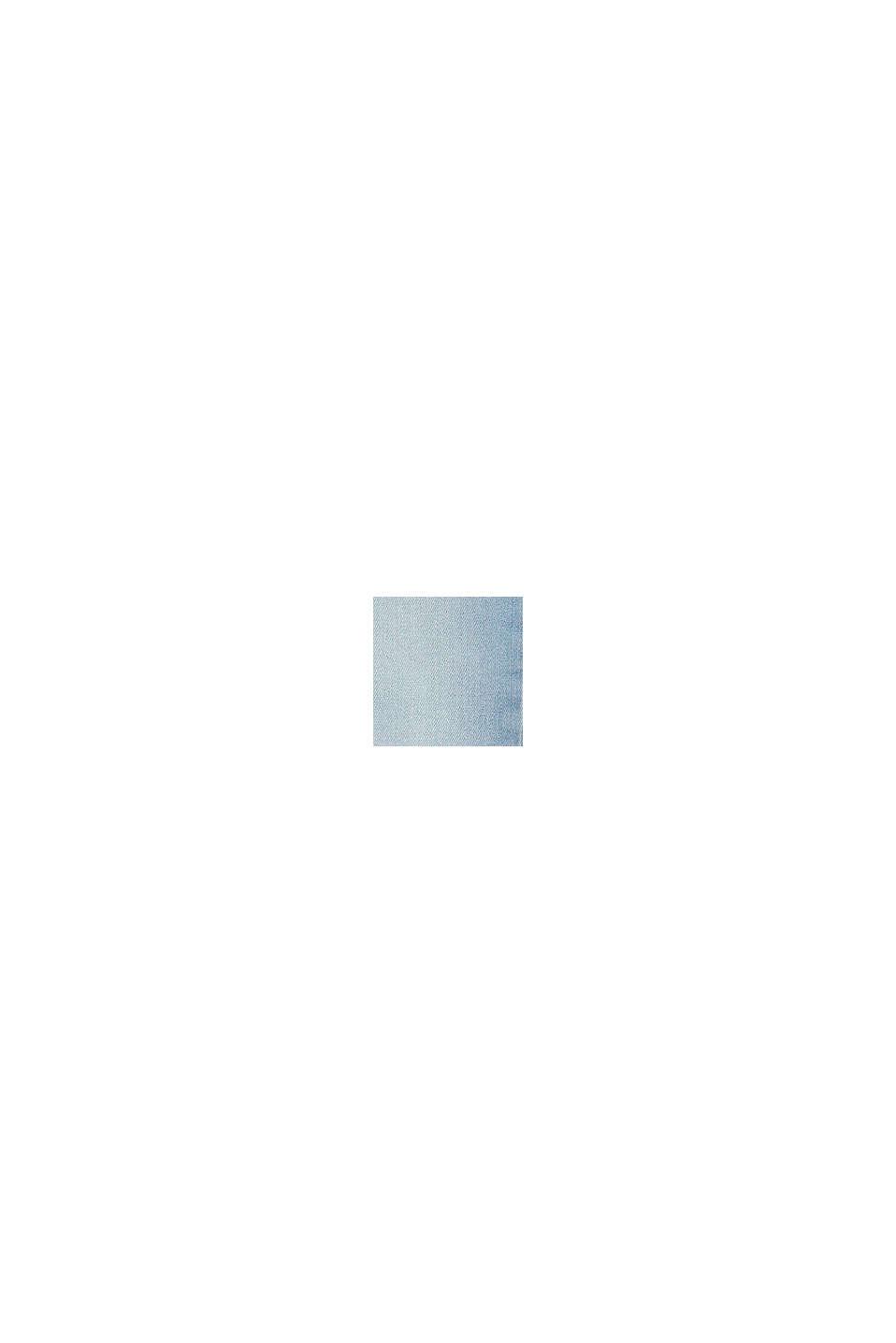 Vaqueros con cintura ajustable y bajo en diagonal, BLUE BLEACHED, swatch