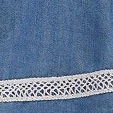En lyocell: la robe au look denim ornée de dentelle, BLUE LIGHT WASHED, swatch