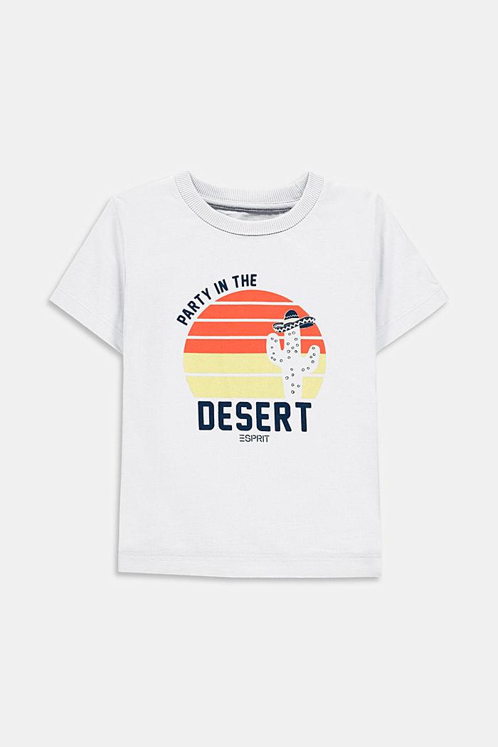 Camiseta con estampado, 100% algodón, WHITE, detail image number 0