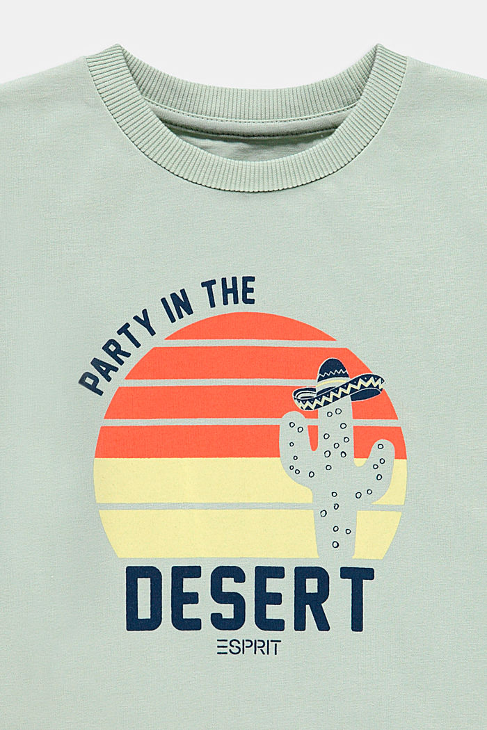 Printed T-shirt, 100% cotton, PASTEL GREEN, detail image number 2