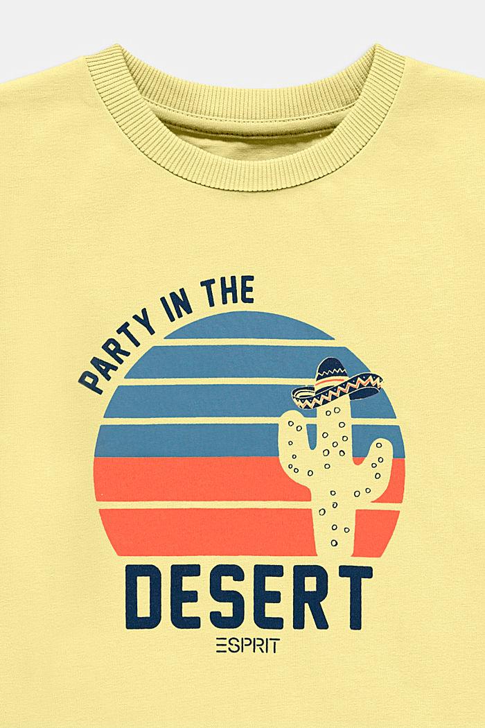 Camiseta con estampado, 100% algodón, BRIGHT YELLOW, detail image number 2