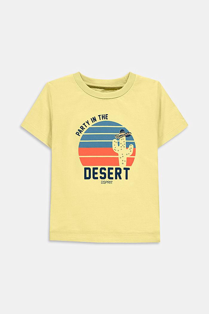 Camiseta con estampado, 100% algodón, BRIGHT YELLOW, detail image number 0
