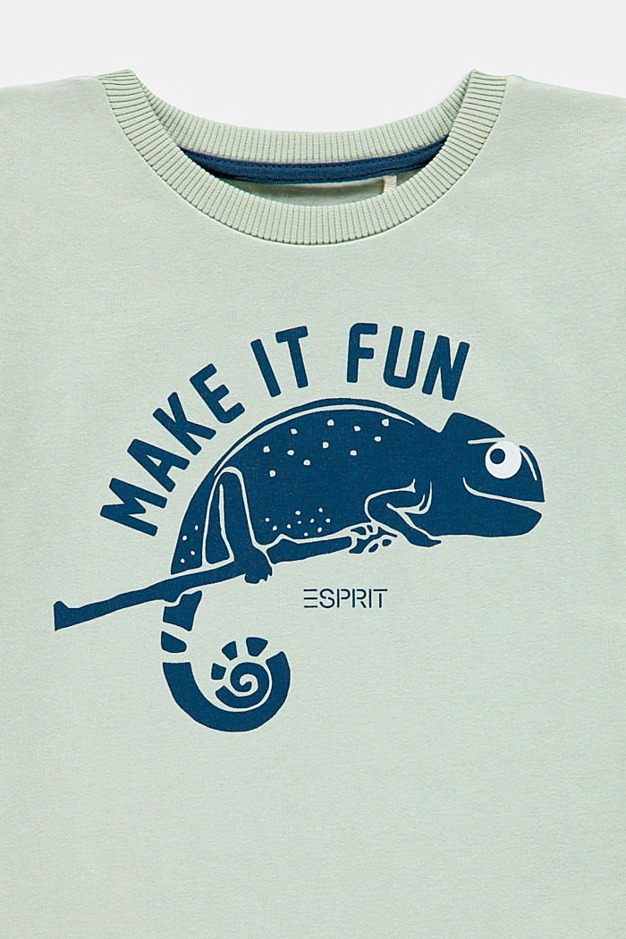 T-shirt with chameleon print, PASTEL GREEN, detail image number 2