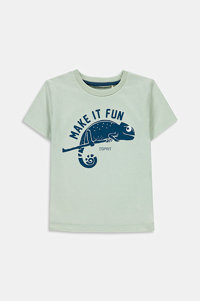 T-shirt with chameleon print