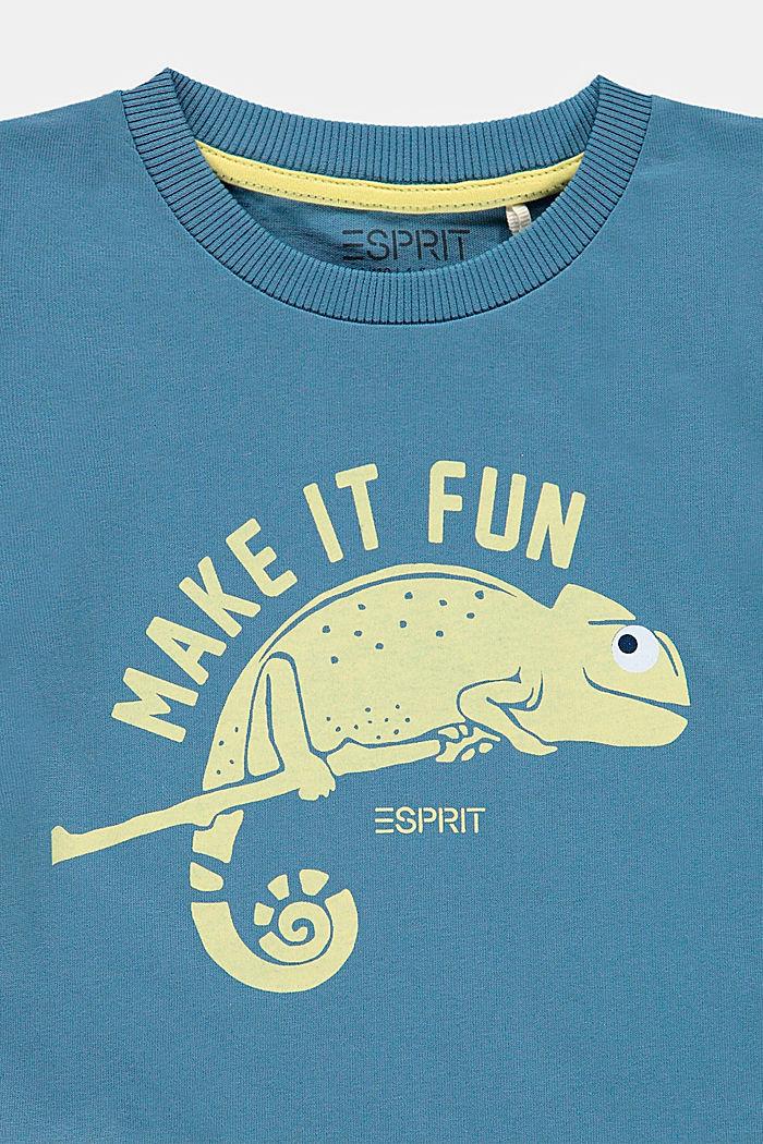 Camiseta con estampado de camaleón, GREY BLUE, detail image number 2
