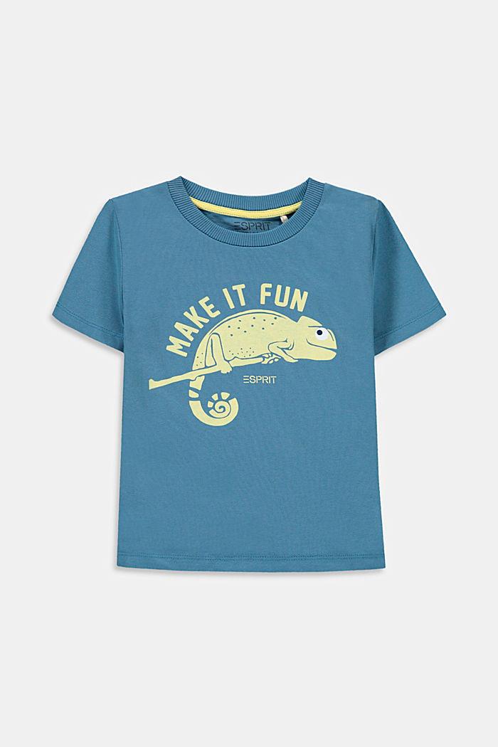 Camiseta con estampado de camaleón, GREY BLUE, detail image number 0