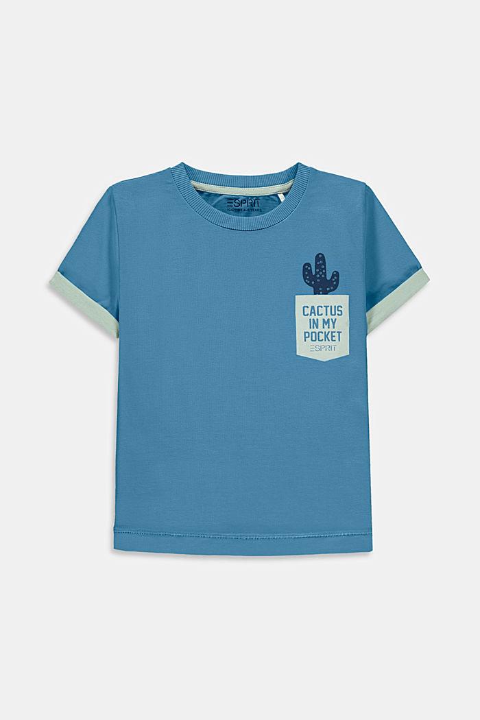 T-shirt met cactusprint, 100% katoen