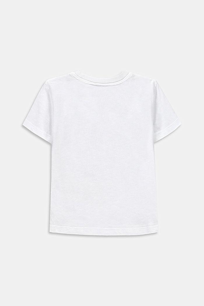 T-Shirt mit Fotoprint, 100% Baumwolle, WHITE, detail image number 1