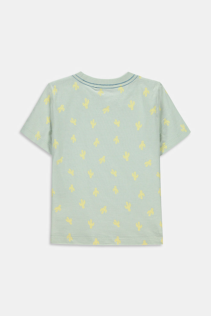 T-shirt à inscription, 100% coton, PASTEL GREEN, detail image number 1