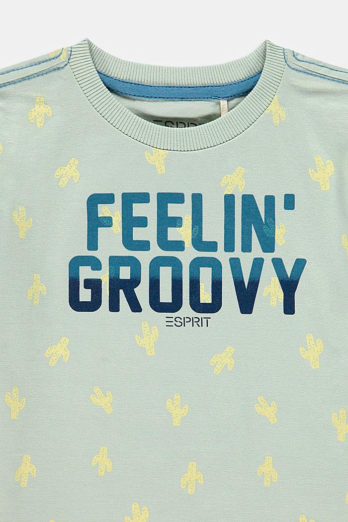 T-shirt à inscription, 100% coton, PASTEL GREEN, detail image number 2
