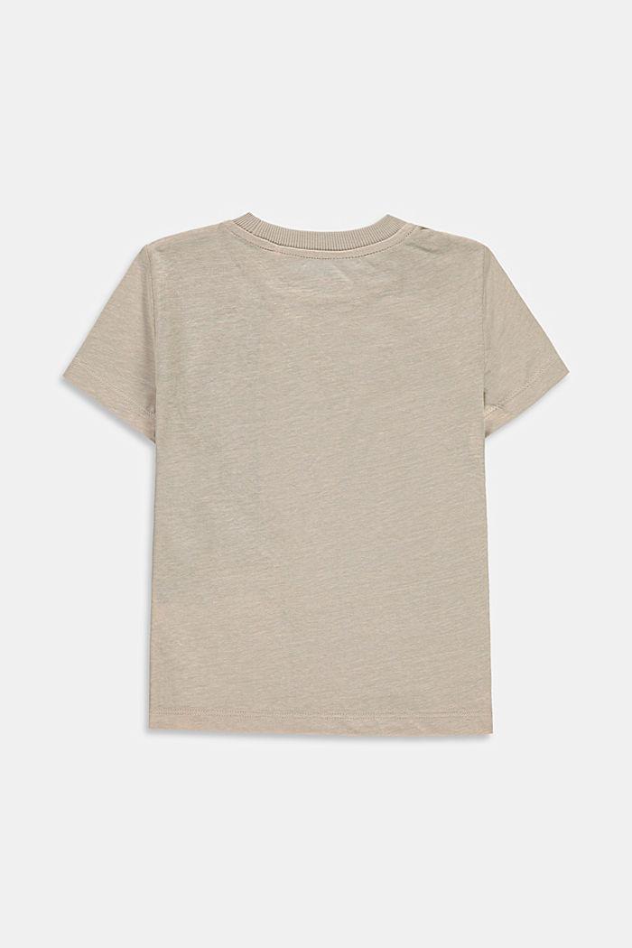Met linnen: T-shirt met colour block