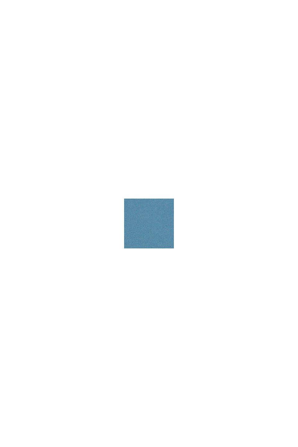 Met linnen: T-shirt met colour block, GREY BLUE, swatch