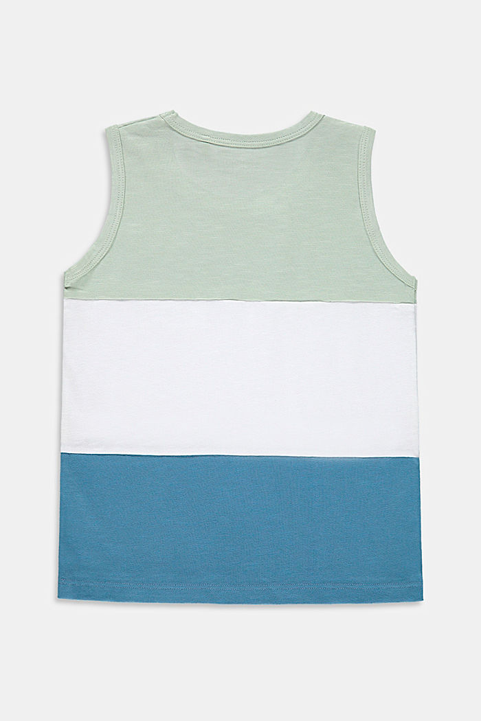 Top con bloques de color en 100% algodón, PASTEL GREEN, detail image number 1
