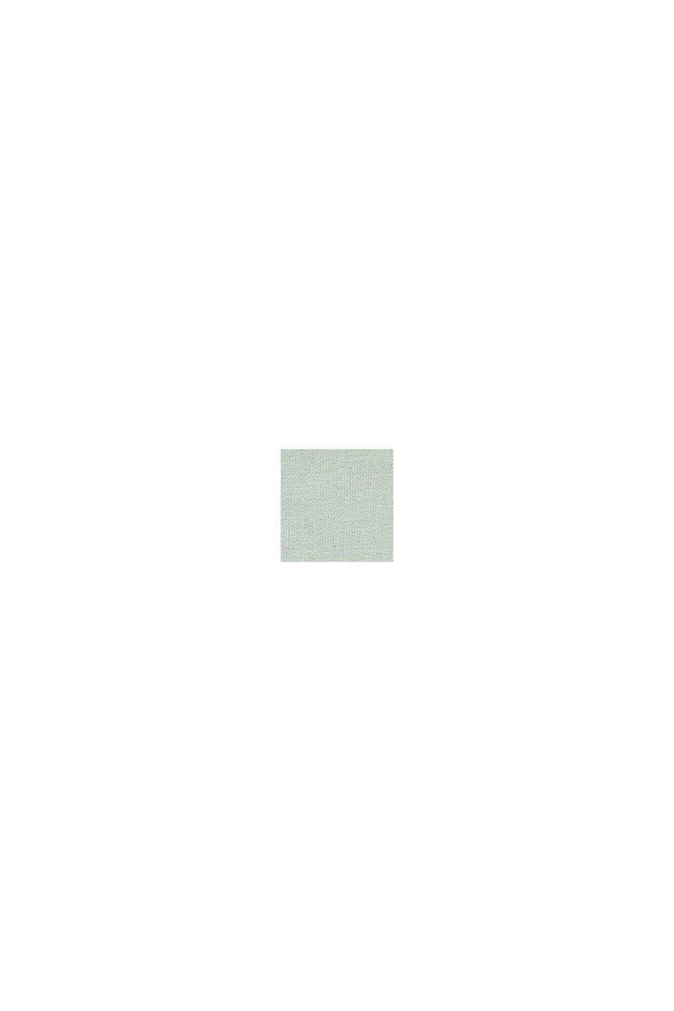 Colour block-top van 100% katoen, PASTEL GREEN, swatch