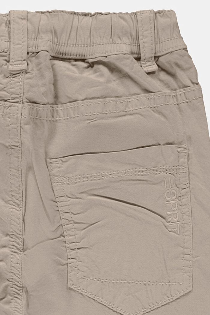 Hose mit elastischem Kordelzugbund, BEIGE, detail image number 1