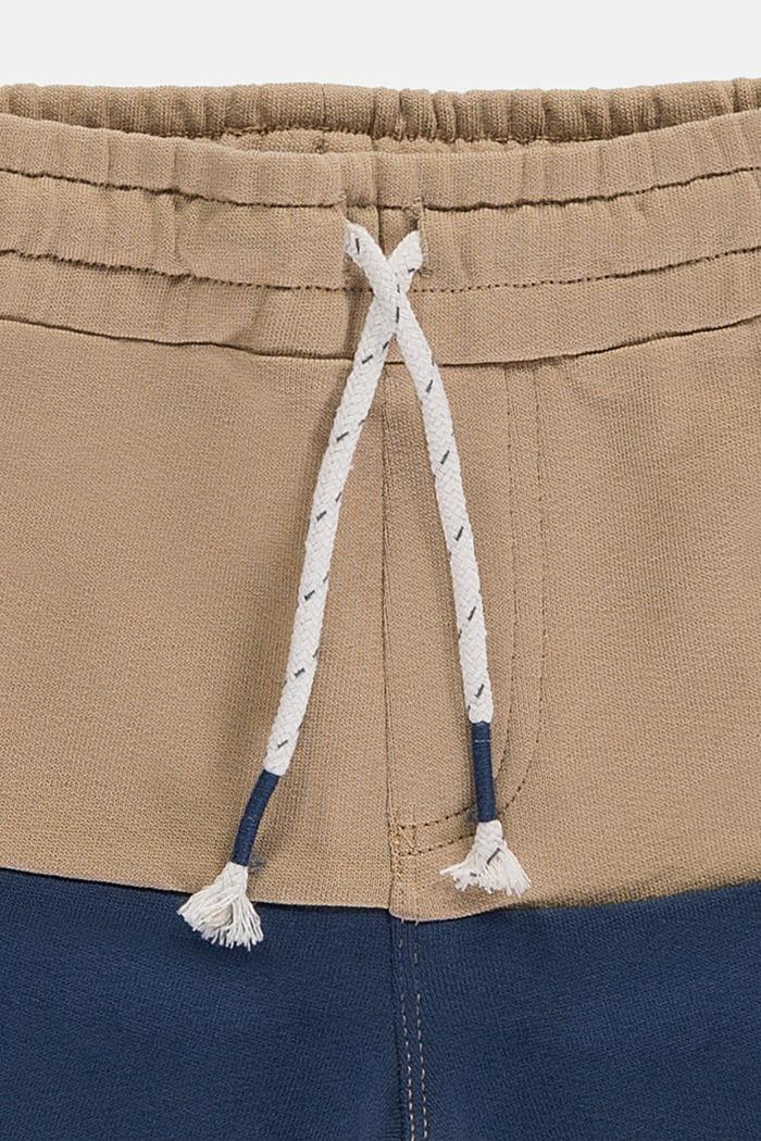 Sweatshorts mit Color Block, 100% Baumwolle, CAMEL, detail image number 2