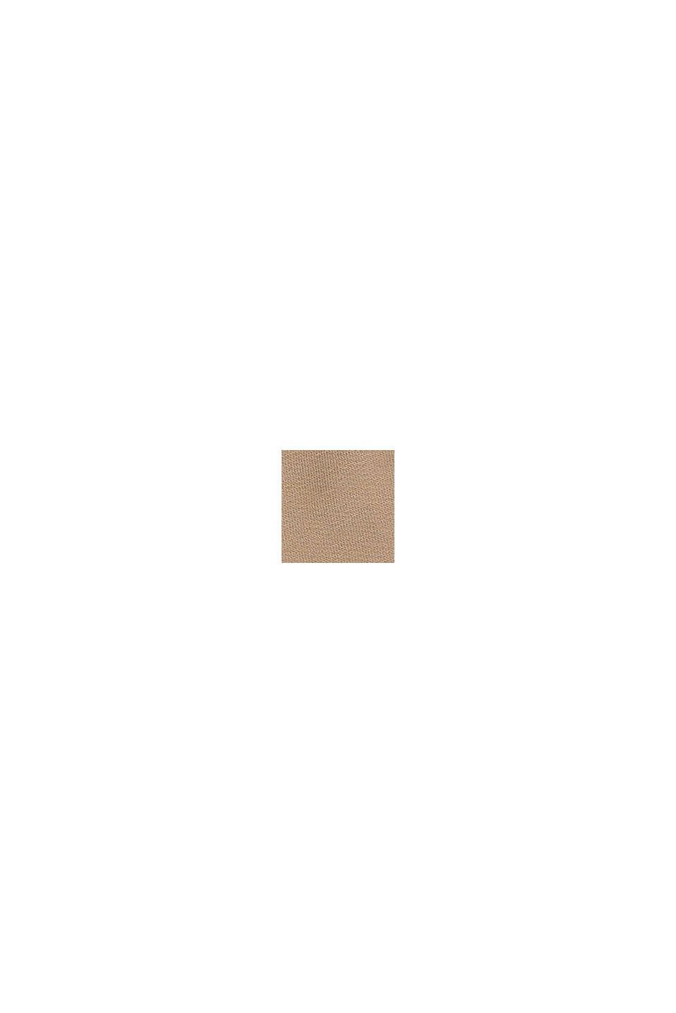 Sweatshorts mit Color Block, 100% Baumwolle, CAMEL, swatch