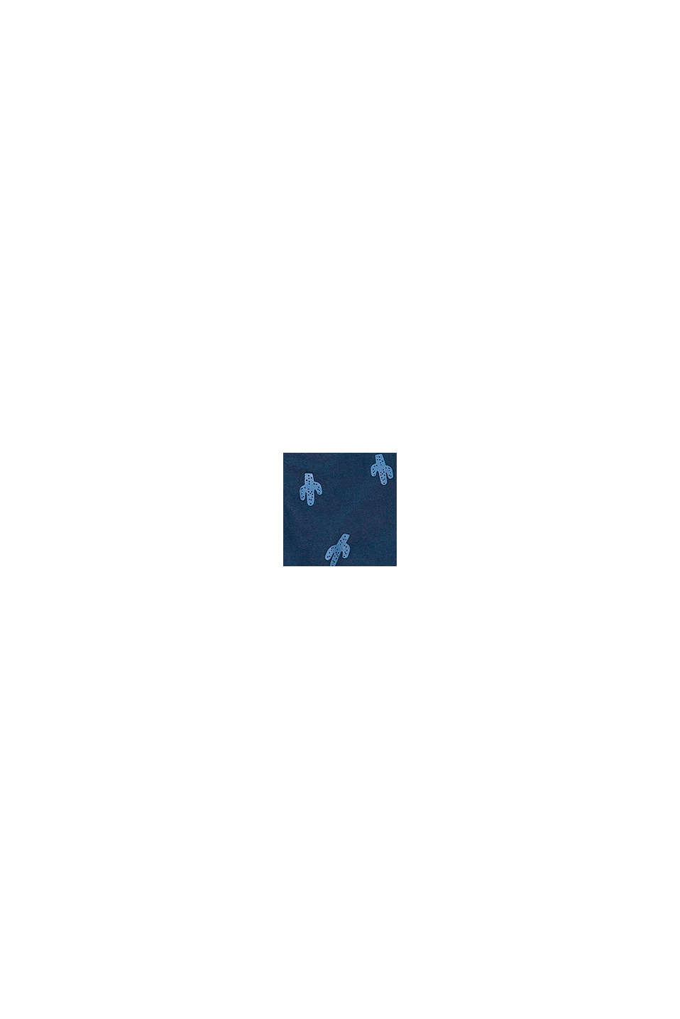 Bermudas mit Kaktus-Print und Verstellbund, PETROL BLUE, swatch