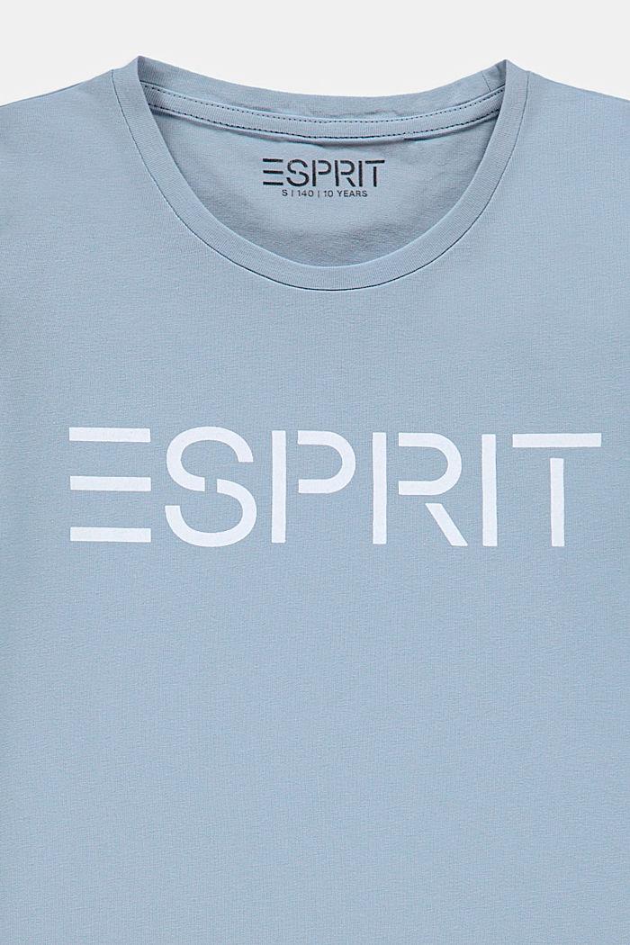 Logo-T-Shirt aus 100% Baumwolle, GREY BLUE, detail image number 2