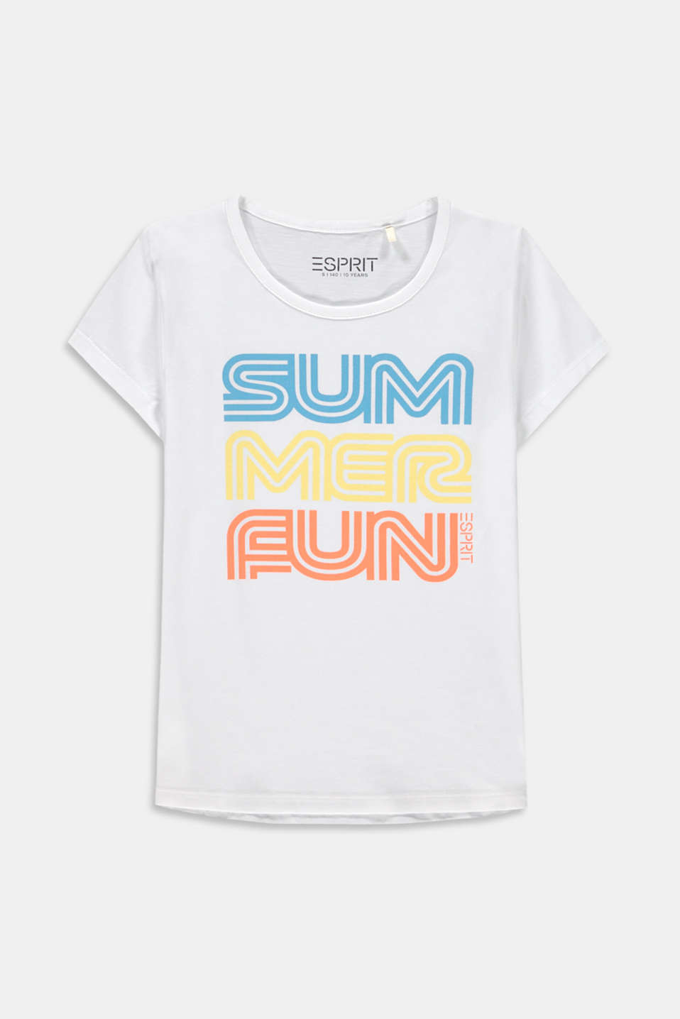 Esprit - T-shirt med retroprint, bomuldsstretch