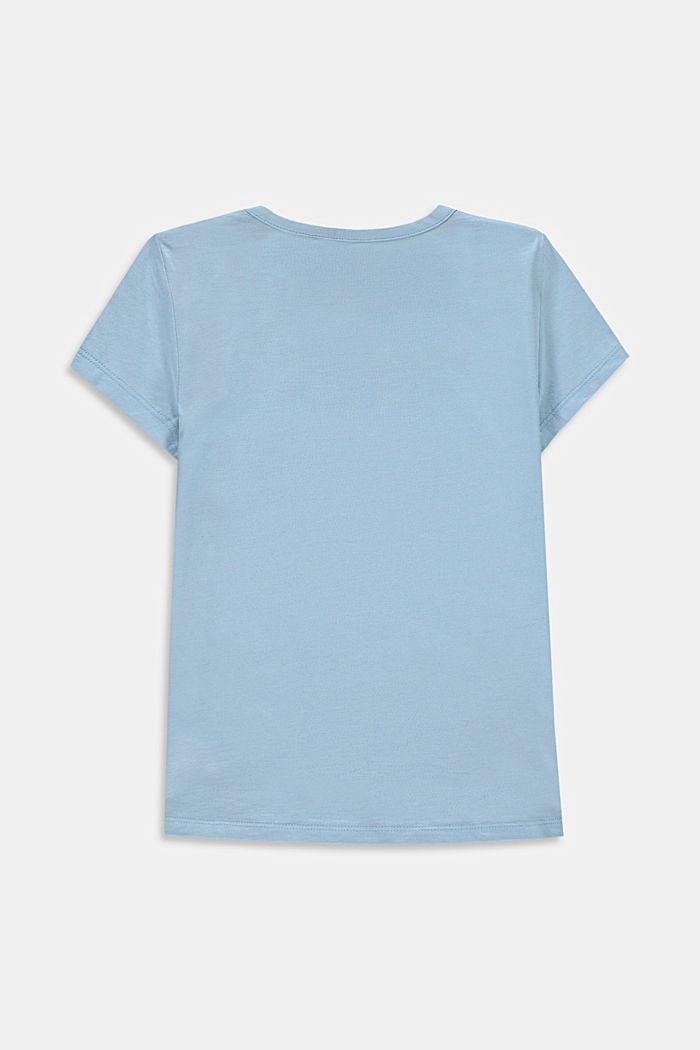 T-Shirt mit Retro-Print, Baumwoll-Stretch, BLUE LAVENDER, detail image number 1