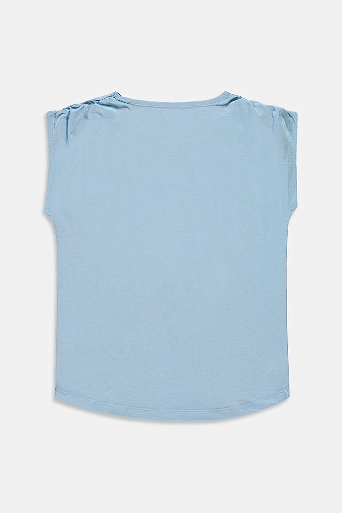 Shirt mit gerafften Schultern und Kaktus-Print